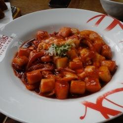 Tteokbokki gnocchi di riso con salsa piccante
