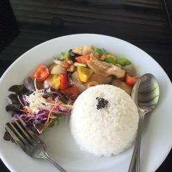 Riso pollo e verdure