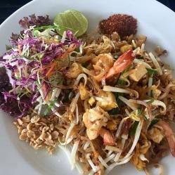 Pad Thai con gamberi