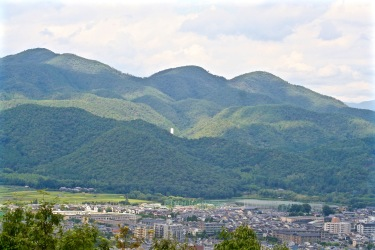 View from the top of Arashiyama and Kyoto