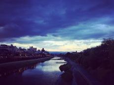 Sunset on the Kamo River